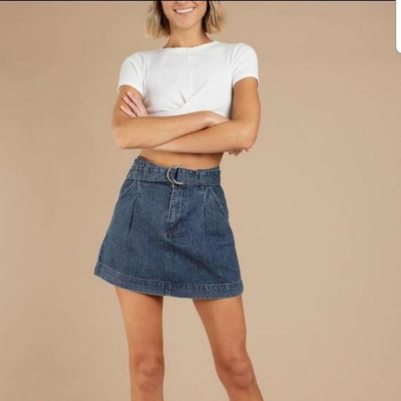 Free People Dresses & Skirts - NEW Free people Jade denim belt skirt